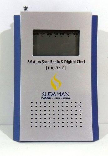 Rádio Fm Com Relógio Digital - Frete Grátis