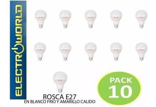 Pack 10 Ampolleta 18 Leds Ahorro 80%, 12 Watts /electroworld