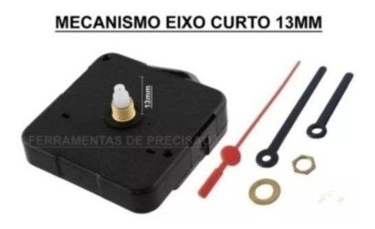 1 Mecanismo Relógio Parede Eixo Curto 13mm Silencioso Maquin