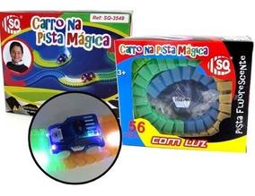 Pista Magica Flexivel Brilha No Escuro Autorama Manual 56 Pç