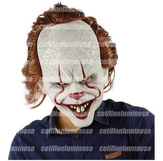 Máscara Payaso Malo It Halloween Disfraz 100% Latex Upd