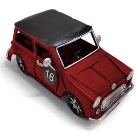Mini Carro Clássico Vintage Decorativo Latao Azul Ou Vermelh