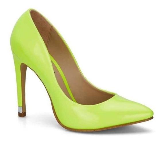 Zapato Dama Superficie Charol Fiesta Casual Tonos Neon