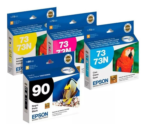 Cartucho Epson Combo 90 + 73 Colores C92 Cx5500 Cx5600 Tx100
