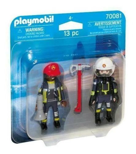 Imagem 1 de 3 de Playmobil - Pack 2 Figuras - Bonecos Bombeiros De Resgate