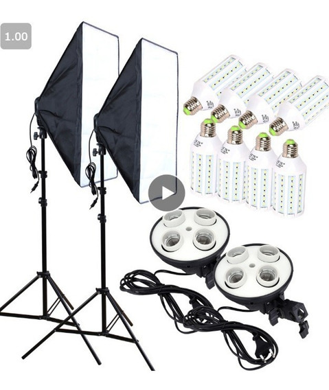 Estúdio De Fotos Completo ! Lampadas Led! Softbox E Mais!