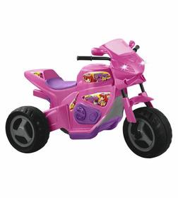 Triciclo Elétrico Infantil 6v Moto Rosa Max Turbo Magic Toys