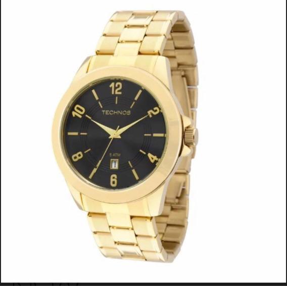 Relógio Technos Masculino Dourado 2115kon/4p
