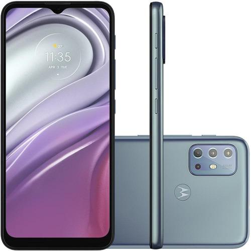 Imagem 1 de 12 de Kit Celular Motorola Moto G20 Azul Capa Triangle Pelicula