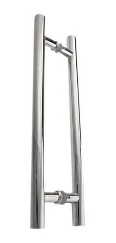 Imagem 1 de 5 de Puxador H Inox 20cm X 30 Cm Portas Vidro Madeira 300x200 304