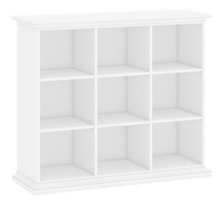 Librero Con 9 Entrepaños, Color Blanco, Fab. En Dinamarca