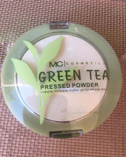 Imagen 1 de 4 de Polvo Compacto Maquillaje Té Verde Matte