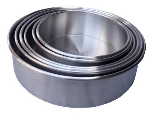 Molde Para Tortas En Aluminio De Alta Calidad X 6 + Obsequio