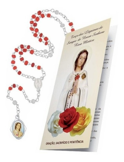 Terço Das Lágrimas De Sangue De N. Sra. Rosa Mística Devoção