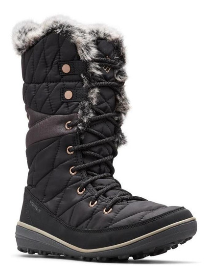 Bota Mujer Columbia Heavenly Omni-heat (010) Black Winter