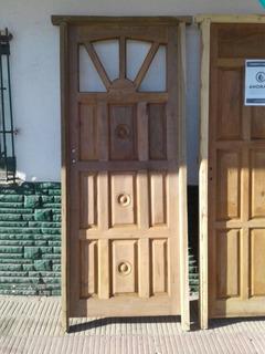 Puerta De Algarrobo Exterior Rayito De Sol
