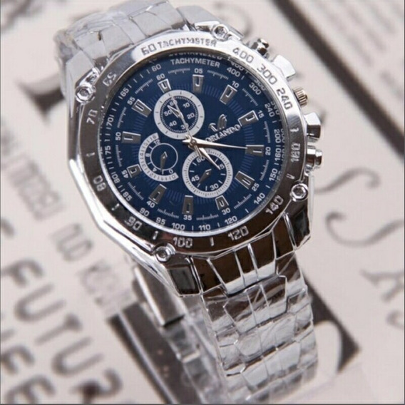 Relógio Luxury Stainless Steel Strap Quartz Man Waterpro