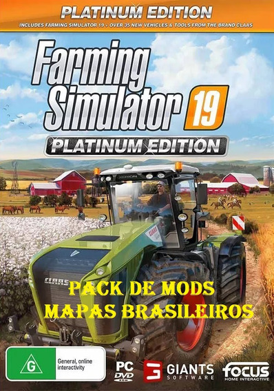 Farming Simulator 2019 Platinum Edition Pt-br Pc-dvd + Mods