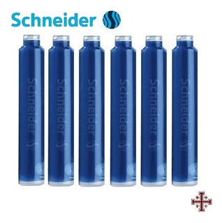 Cartucho Para Pluma Fuente. Schneider. Tinta Azul (6 Pzas)