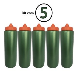 5 X Squeeze Automatico Tipo Gatorade Verde 1lt Rythmoon