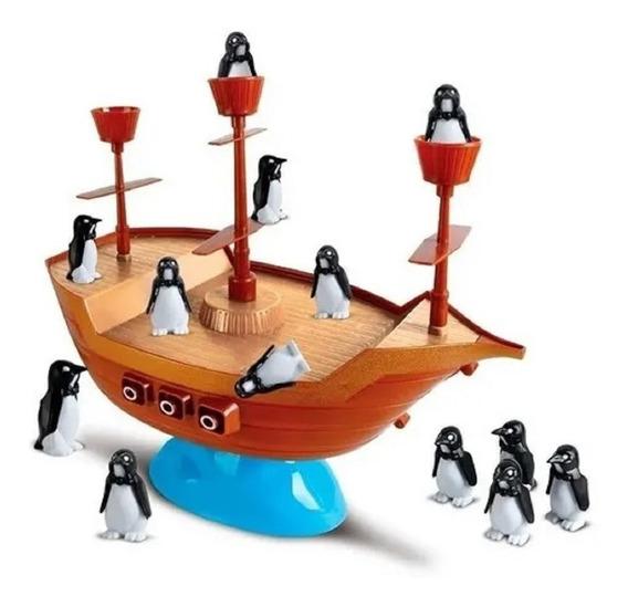 Jogo Infantil Navio Equilibrista Pinguim No Navio Pirata