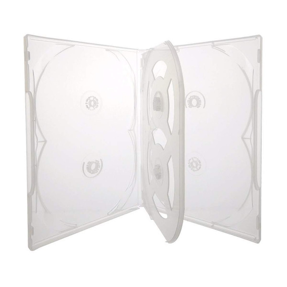 100 Box Sextuplo ( P 6 Midias) Transparente