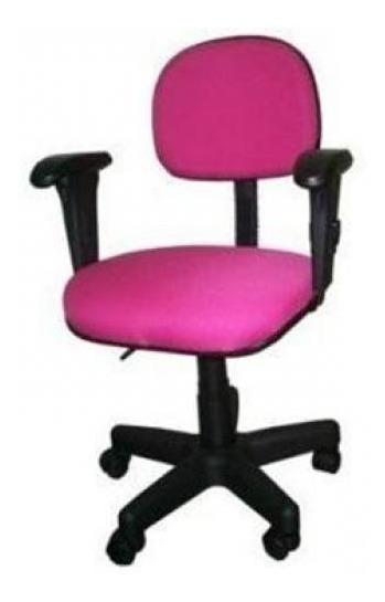 Promoção Cadeira Secretária Rosa Pink Com Braços Campinas Sp