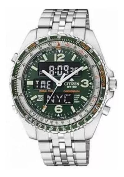 Relógio Citizen Promaster Wingman Vi Jq8008-58w Jq8007 Verde