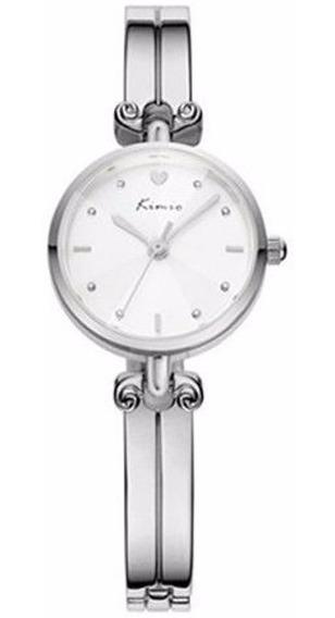 Relógio Feminino Redondo Social 6041 Pulseira Fina Kimio