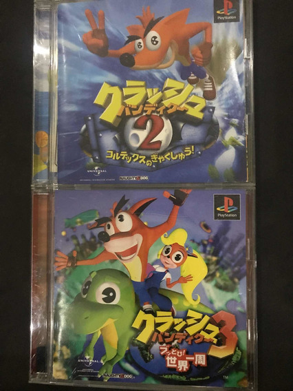 Crash Bandicoot 2 E 3 Para Ps1 Japonês Originais