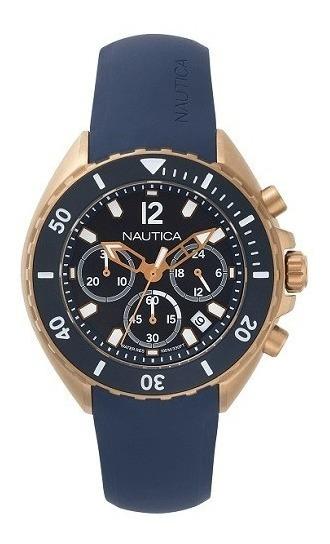 Relógio Nautica Masculino Borracha Azul - Napnwp007