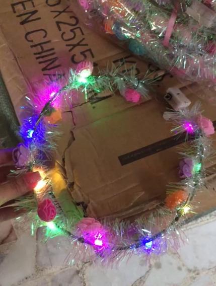 150 Coronas De Flores Luminosas Para Fiestas
