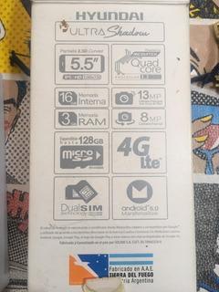 Celular Hyundai Ultra Shadow Pantalla Amoled Hd 5.0 Accesorios Completos En Su Caja