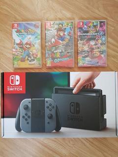 Liquidacion Nintendo Switch 32gb Nuevas + 3 Juegos Solo Hoy!