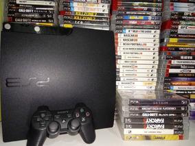 Playstation 3 Slim Ou Ps3 Super Slim + Jogo Original Bluray