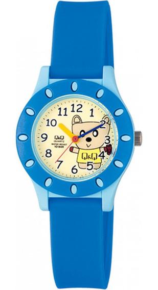 Relógio Infantil Masculino Azul Fundo Ursinho Ponteiro + Nf