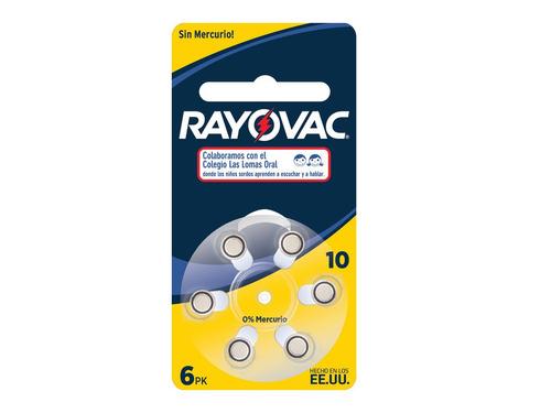 Imagen 1 de 9 de Pila Botón Rayovac N 10 Pila Auditiva 6 Unidades Audifono R