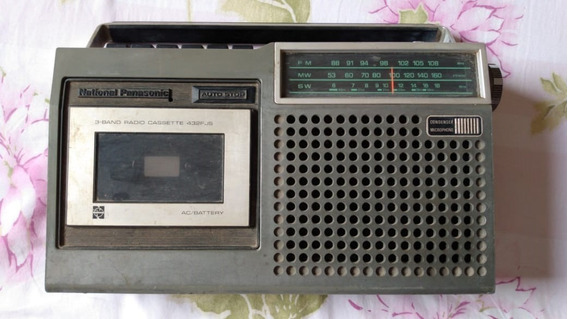 Rádio Gravador National Rq- 432 Fjs (sucata) 12/19 #89
