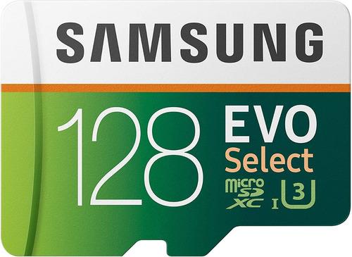 Memoria Microsdhc 128gb Samsung Evo Clase 10 + Adaptador