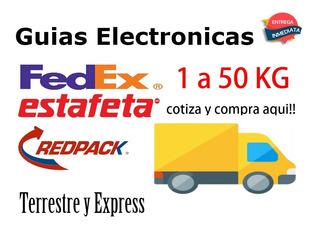 Guías Electrónicas Estafeta, Guías Fdex De 1 A 30 Kgs