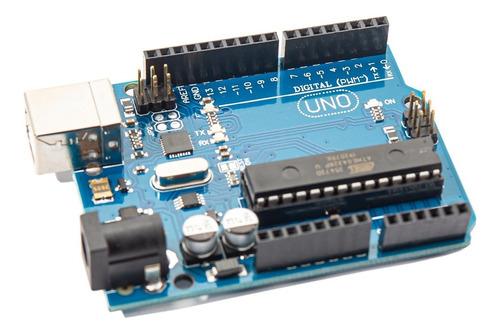 Placa Uno Atmega328p Chip Desmontable Cable Usb Domotica