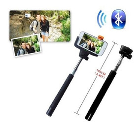 Kit Bastão Retrátil Monopod Selfie Bluetooth Integrado Adap