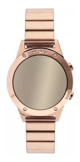 Relógio Feminino Rose Digital Espelhado Euro Fashion Sabrina