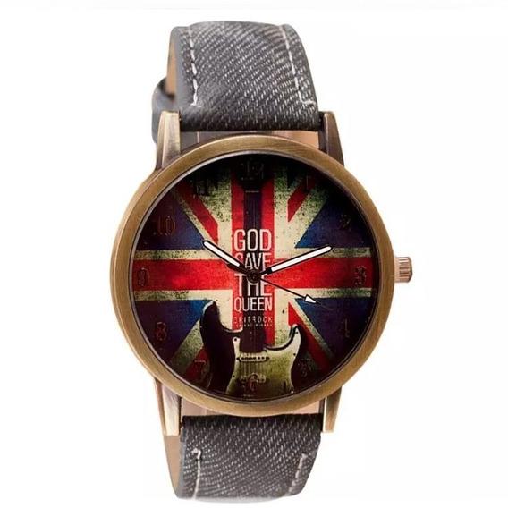 Relógio Bandeira Inglaterra Rock