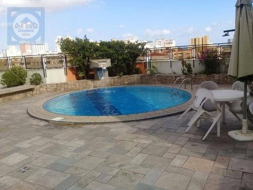 Imagem 1 de 24 de Flat Com 1 Dormitório Para Alugar, 50 M² Por R$ 3.000,00/mês - Gonzaga - Santos/sp - Fl0064