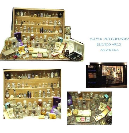Importante Colección Antiguos Frascos Perfume Cajas Tapones
