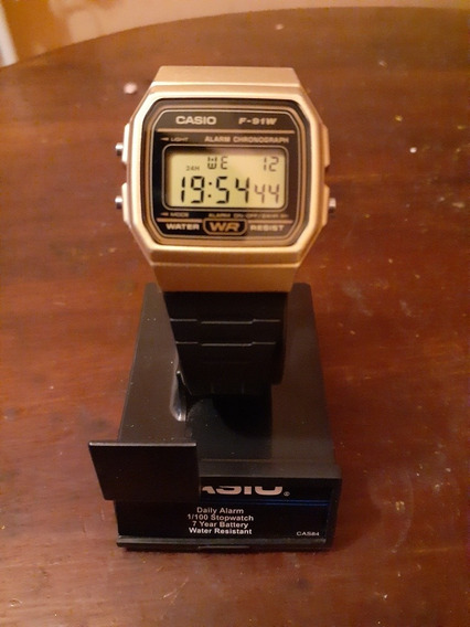 Reloj Casio F91w Dorado Original