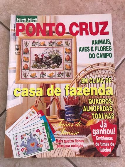 Revista Fácil Fácil Ponto Cruz 439 Fazenda Animais I343