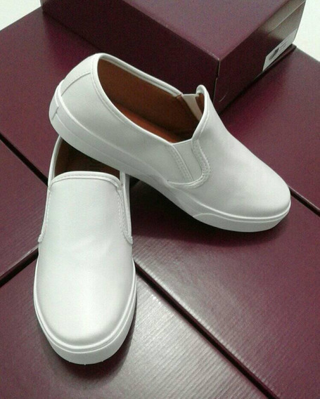 Tênis Slip On Branco Profissional Ca3011 (34-39)