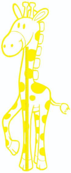 Adesivo Parede Girafa Medidor De Altura Infantil